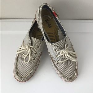 Keds Striped Boat Shoes